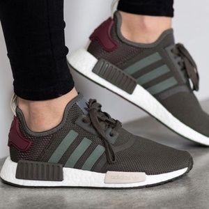 Adidas | NMD R1 olive and maroon